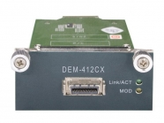 10 Gigabit Ethernet Module with 1 CX4 Port for stacking, compatible with DGS-3610-xx series Gigabit switches ( DEM-412CX)